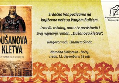 Промоција књиге и вече са Вањом Булићем у Народној библиотеци