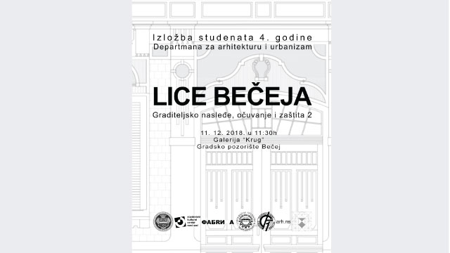"""Изложба радова студенете архитектуре """"Лице Бечеја"""""""