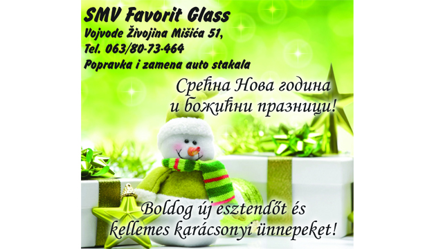 Čestitka SMV Favorit Glass