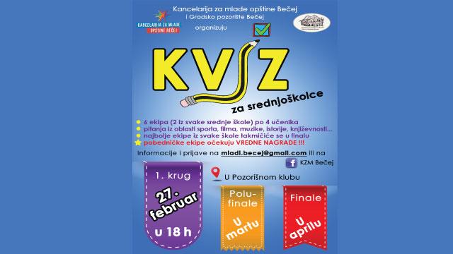 KZM organizuje kviz za srednjoškolce