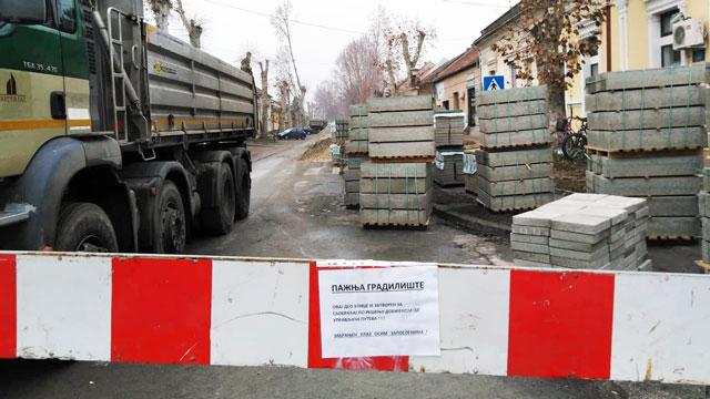 Затварање следећег дела Зелене улице (од раскрснице са Новосадском улицом)