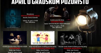 Gradsko pozorište Bečej: Aprilski program i raspisan konkurs za Majske igre